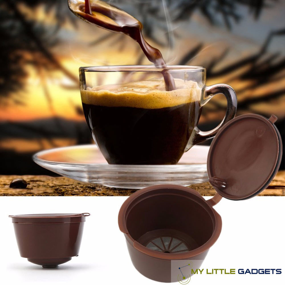 3 Pcs Universal Refillable Nespresso Dolce Gusto Coffee Capsule Cafe Baskets Krups Glass