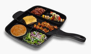 5 In 1 Multi-purpose Separation Pot Fryer Pan Non Stick Grill Fry Oven Meal Skillet 1