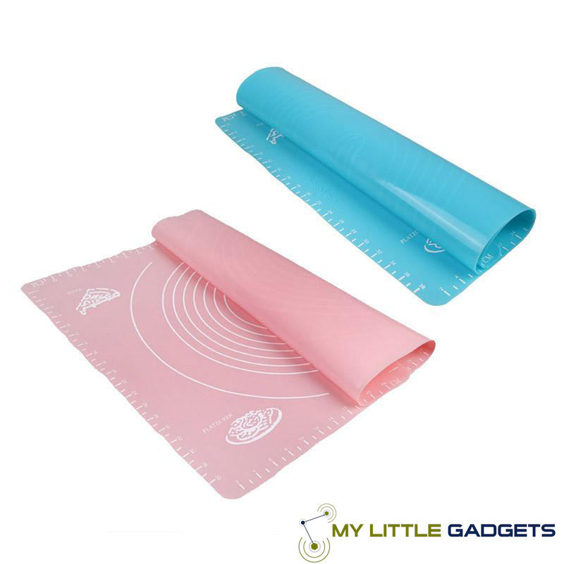 50*40cm Silicone Baking Mat Cakes Pans Non-Stick Table Grill Pad Jelly Fondant Cooking Blue Pink
