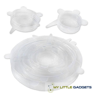 silicone stretch lid for bowl or cover container set of 6