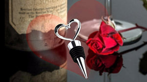 Elegant Heart Shaped Wine Stopper Stainless Steel bottle Plug Pourer Wedding 2017 Gift
