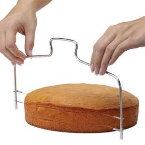 High Quality Layer Cake adjustable 2 two wire Slicer for bread