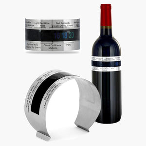 Stainless Steel Wine Bracelet Thermometer (4-24 degree C) for red white wine temperature sensor