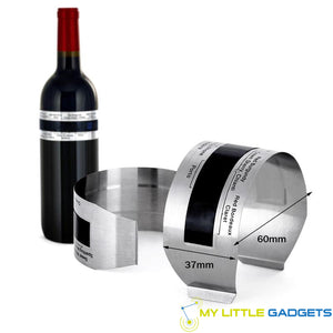 Stainless Steel Wine Bracelet Thermometer 4-24 degree C red white wine temperature sensor dimensions