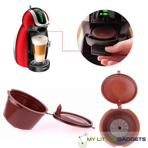 Universal Refillable Nespresso Dolce Gusto Krups Coffee Capsule Reusable Filter Cafe Baskets Machine
