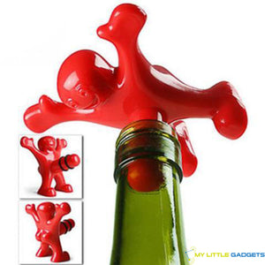 bottle plug stopper happy man men for wine opener screw red pourer gift New