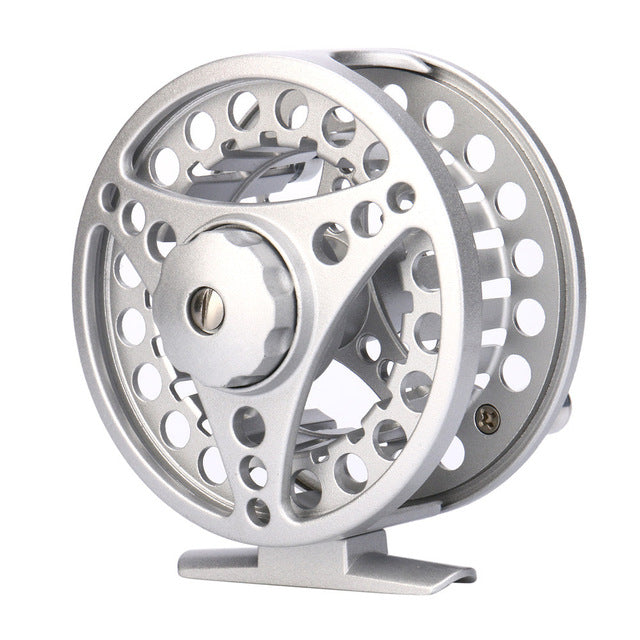 Fly Fishing Reel 3/4 /5/6 /7/8 WT Large Arbor Silver/Black Aluminum 2+1BB Backing Fishing Reel