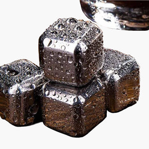 10 pcs/lot Stainless Steel Whiskey Cubes Stones Whisky set Soapstone Cooler Sipping Stone