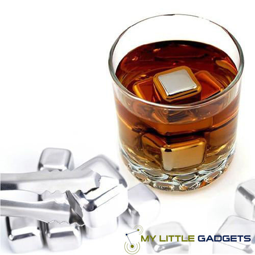 10 pcs/lot Stainless Steel Whiskey Cubes Stones Whisky set Soapstone Cooler Sipping Stone Glass