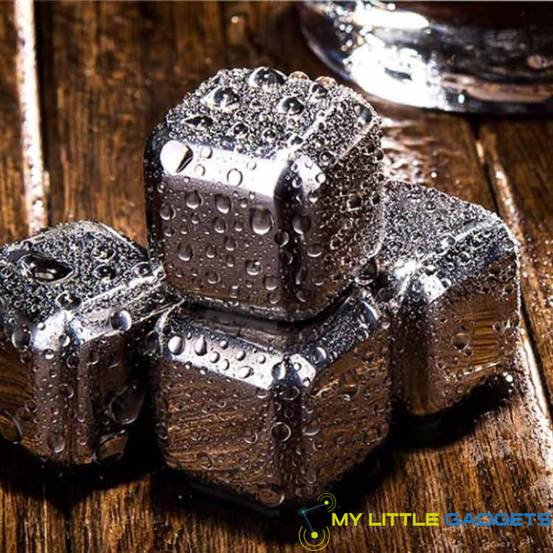 10 pcs/lot Stainless Steel Whiskey Cubes Stones Whisky set Soapstone Cooler Sipping Stone Wet
