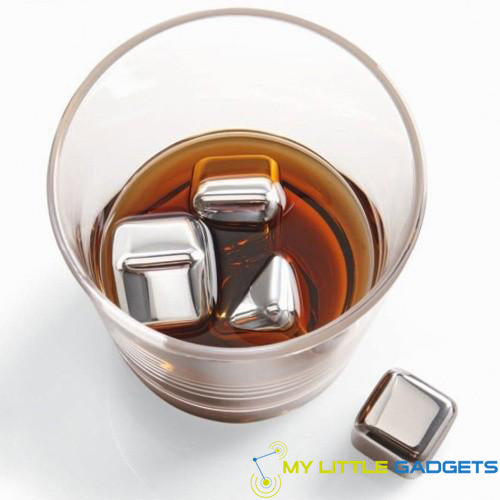 10 pcs/lot Stainless Steel Whiskey Cubes Stones Whisky set Soapstone Cooler Sipping Stone in Glass