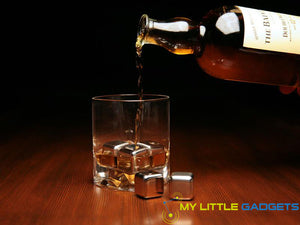10 pcs/lot Stainless Steel Whiskey Cubes Stones Whisky set Soapstone Cooler Sipping Stone Bottle