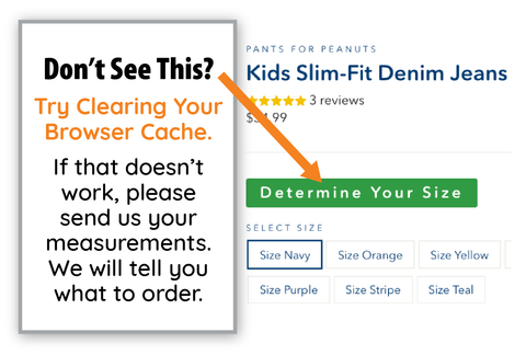 Determine Your Size / Pants for Peanuts