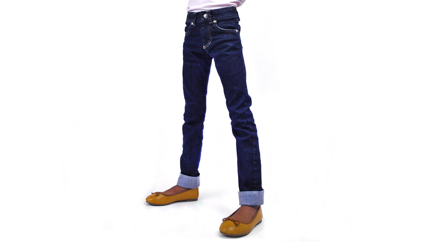 Extra Slim Fit Jeans Built for Skinny Boys and Girls / Pants for Peanuts