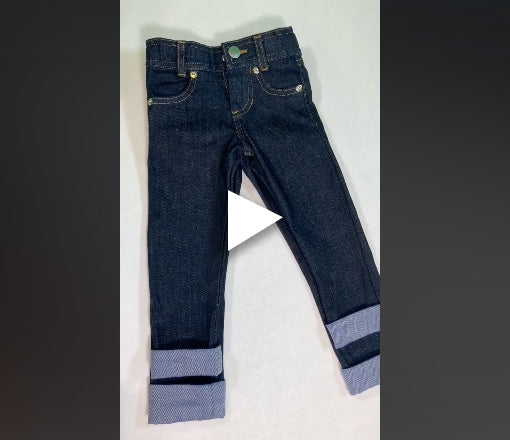 How our slim fit jeans are made specially to fit skinny toddlers and school age boys and girls.