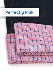 Pink Cuffed Kids Slim-Fit Jeans for Girls