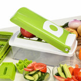 12pc/Set Multifunctional Vegetable Slicer Grater Fruit Cutter With Stainless Steel Blades