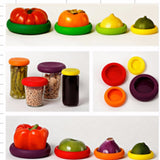 4 Pcs Flexible Silicon Vegetable Fruit Food Huggers Embracer