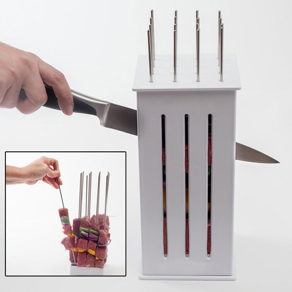 BBQ Barbecue Kebab Maker Meat Brochettes - Makes 16