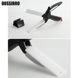 Strong Scissor Knife and Board Stainless Steel Cutter Chopper for Vegetables