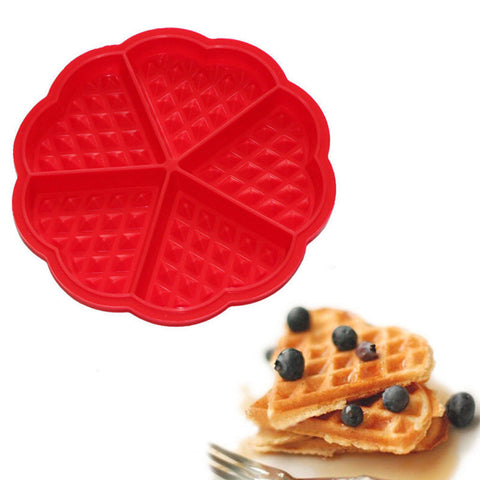 Heart Shaped Silicon Waffle Maker Baking Mold