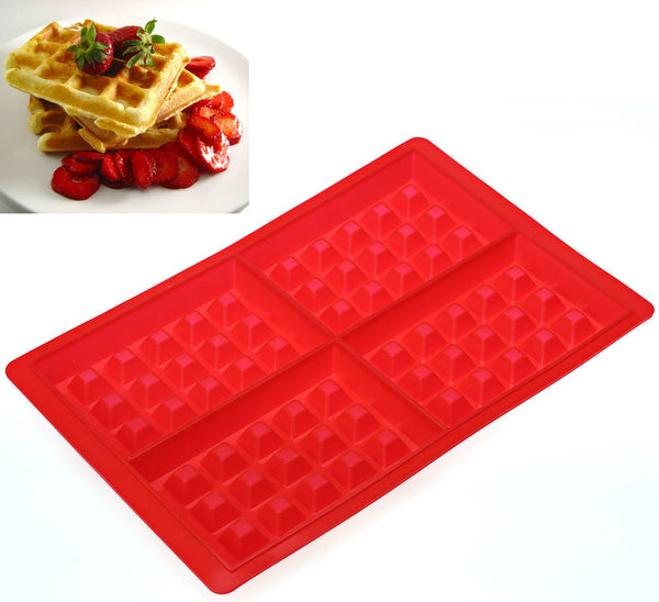 Rectangle Silicon Waffle Maker Baking Mold