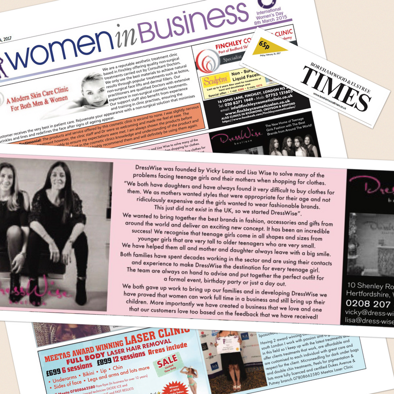 DressWise features in Borehamwood & Elstree Times