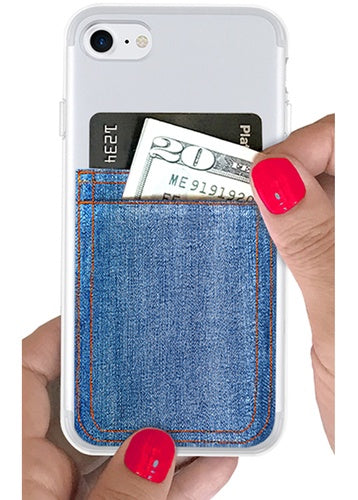 Light Denim Phone Pocket