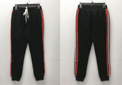 Dance & Marvel Knit Jogger Pants with Side Stripes