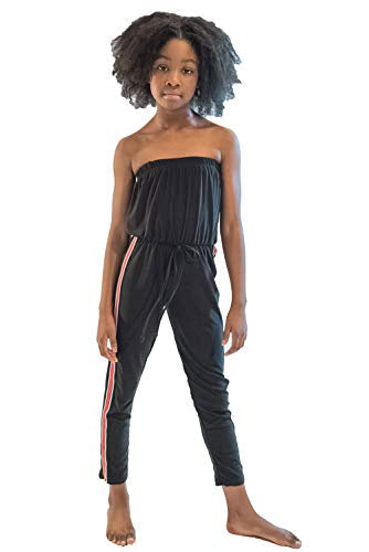 Cheryl Kids Jumpsuit with Red Stripe