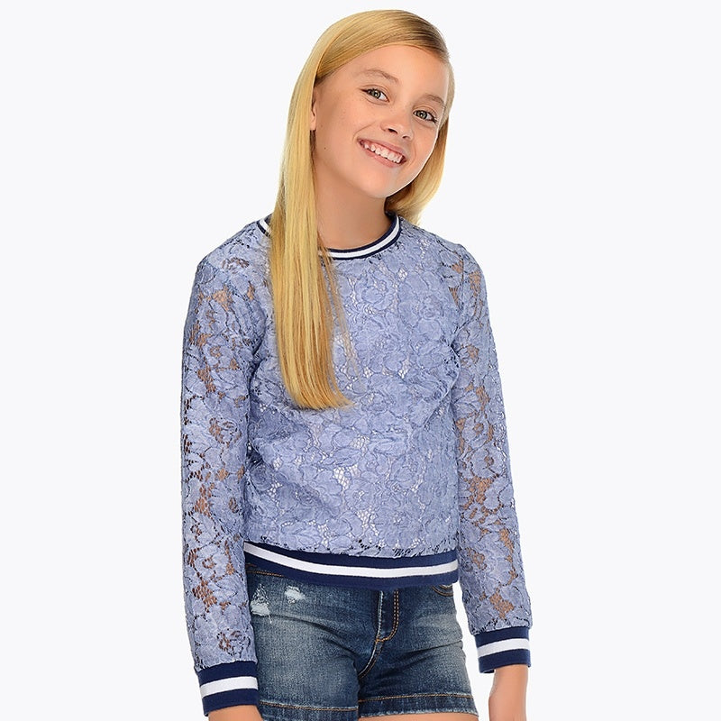 Mayoral Lace Pullover