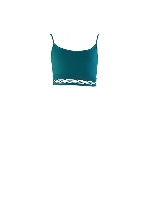 Mesh Bottom Bandeau Bra Cami Top