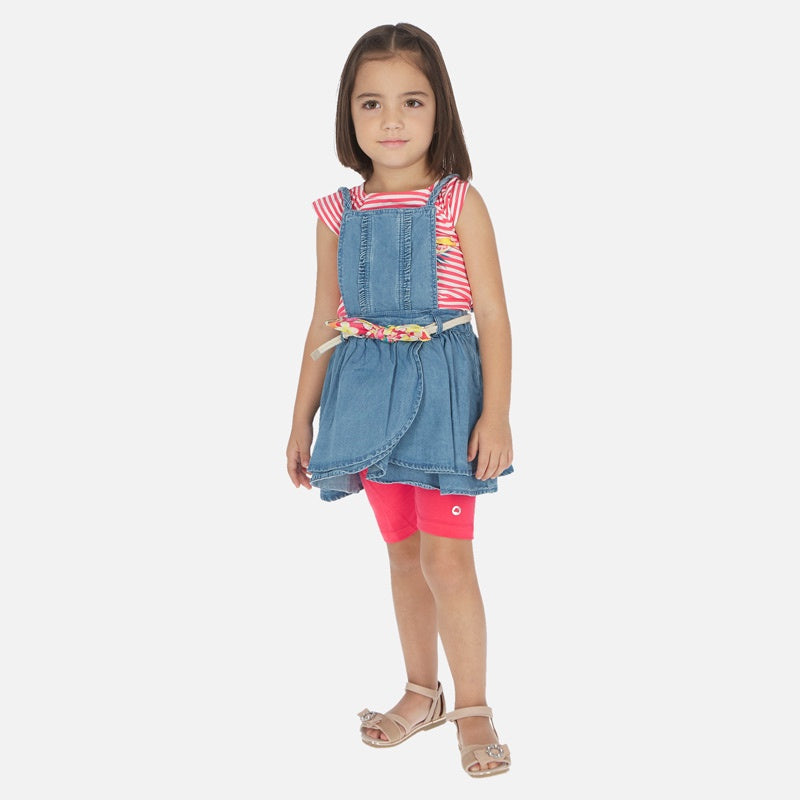 Mayoral Denim Skirt Pinafore