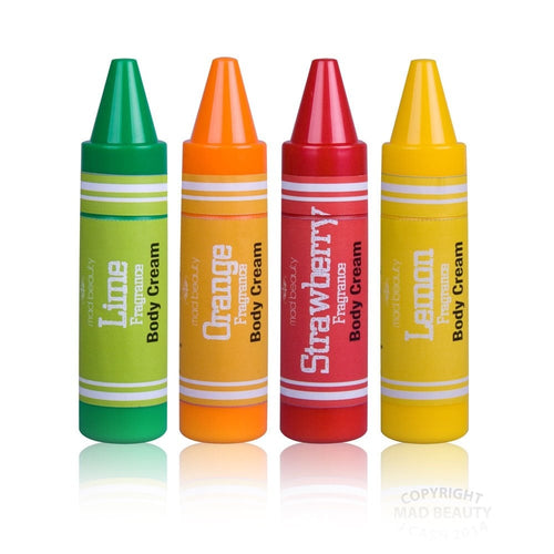 Crayon Body Lotion Display