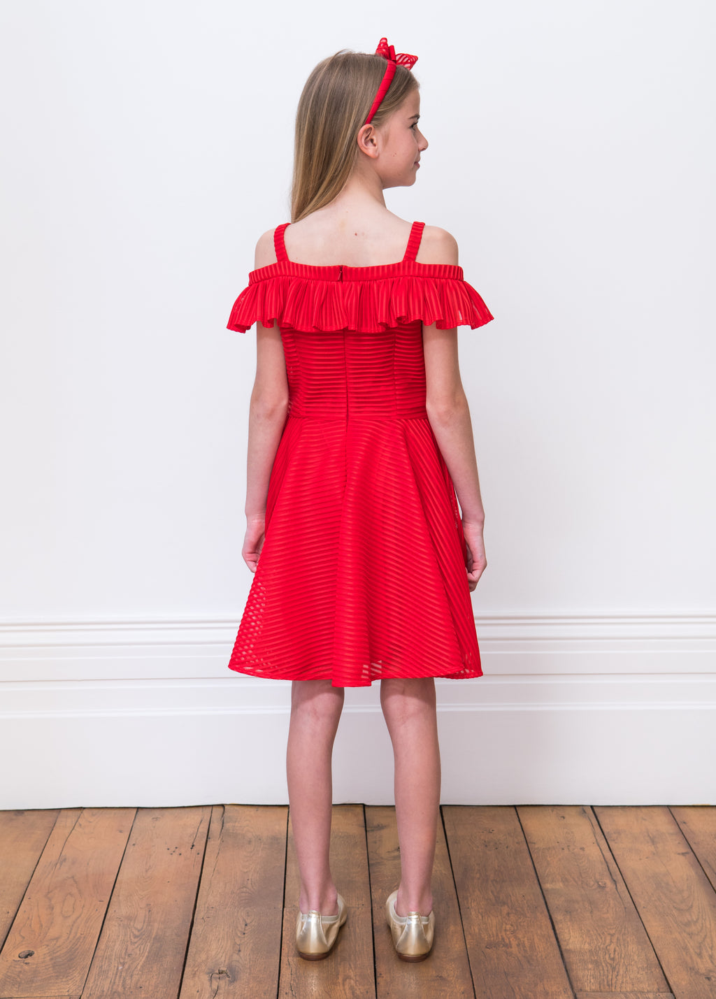 David Charles Ruffle Party Gown