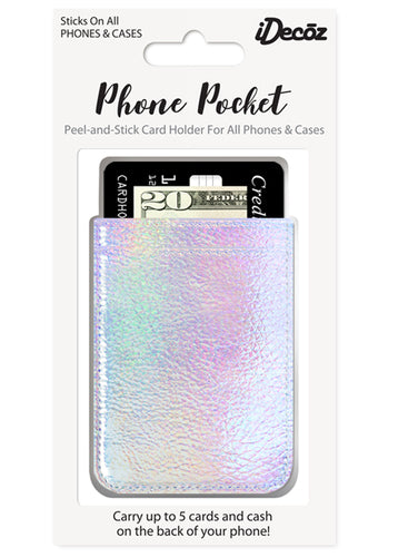 Iridescent Faux Leather Phone Poclet
