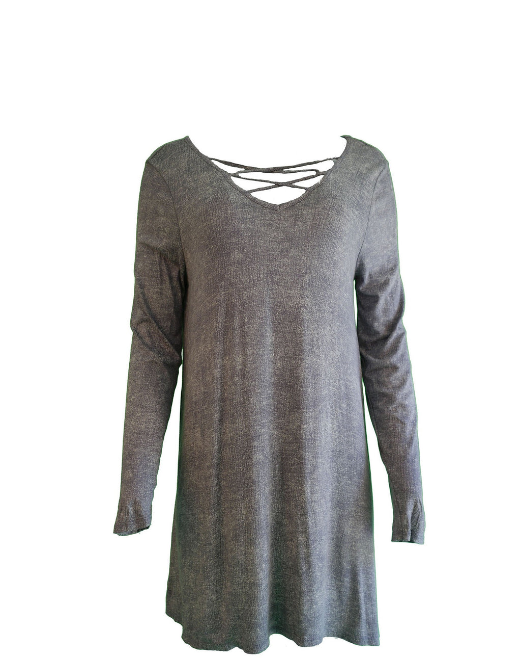 Long Sleeve Washed Jersey Dress