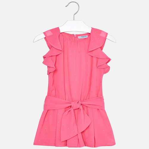 Mayoral Chiffon Playsuit with Tacks