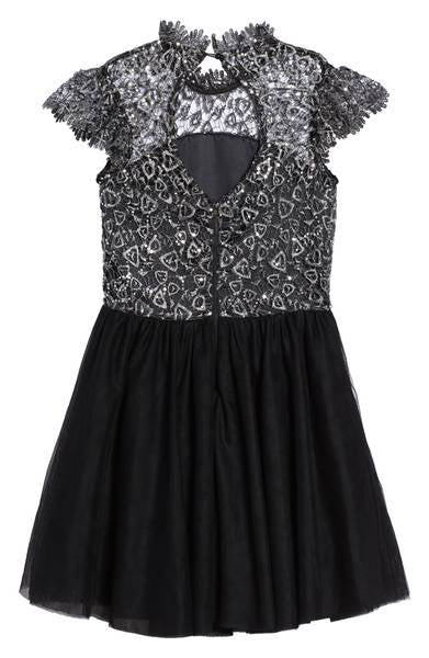 Miss Behave Rocky Lace Sequin Tulle Dress
