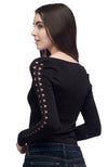 Seams Lovely L/S Top Mesh Down Sleeve