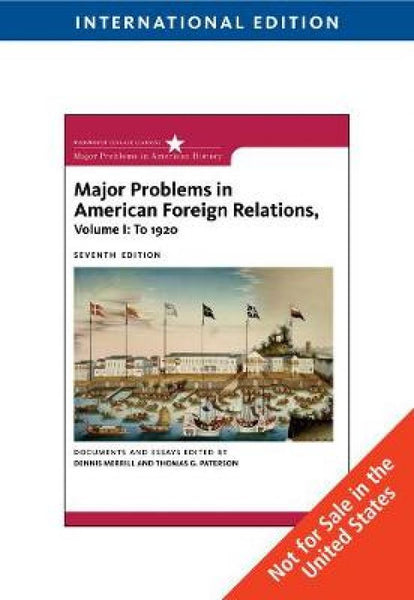 Major Problems in American Foreign Relations