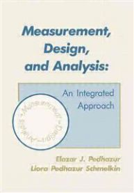 Measurement, Design, and Analysis: An Integrated Approach/Student Edition