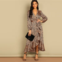Donna Deep V Neck Dress