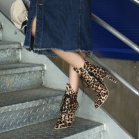 Lacey Leopard Ankle Boots