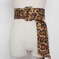 Leopard Square Buckle Belt