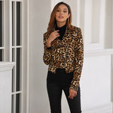 Leopard Print Zippered Jacket