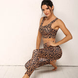 Animal Print Yoga Set