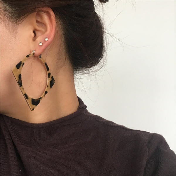 Leopard Collection  Totally Square Hoop Earrings