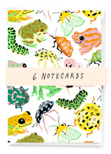 Bugs and Frogs Notecards