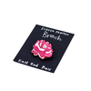 Peony Screenprinted Brooch